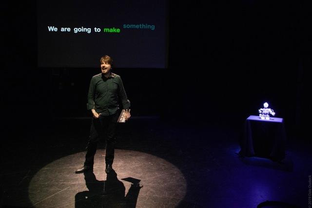Piotr Mirowski and Improbotics at the Global Improvisation Initiative 2019. Credits: Dale Dudeck