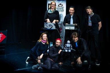 Improbotics cast at the Edinburgh International Improv Festival, 1 March 2020. Credits: Eleanora Briscoe.