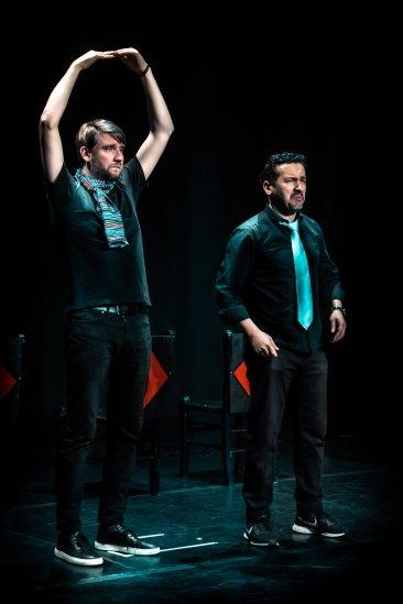 Paul Little and Marouen Mraihi at the Edinburgh International Improv Festival, 1 March 2020. Credits: Eleanora Briscoe.