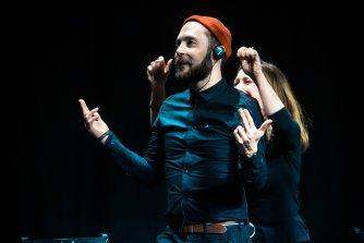 Boyd Branch and Julie Flower at the Edinburgh International Improv Festival, 1 March 2020. Credits: Eleanora Briscoe.