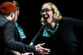 Sarah Davies and Improbotics cast at the Edinburgh International Improv Festival, 1 March 2020. Credits: Eleanora Briscoe.