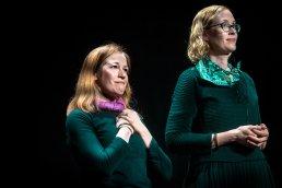 Sarah Davies and Julie Flower at the Edinburgh International Improv Festival, 1 March 2020. Credits: Eleanora Briscoe.