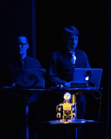 Piotr Mirowski and Tommy Rydling at Improfest Göteborg 2019. Credits Björn Nilsson.