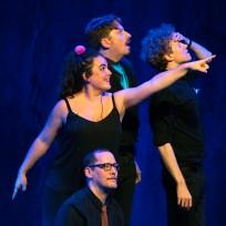 Rhiannon Jenkins, Piotr Mirowski, Michael Håkansson and Tommy Riedling at Improfest Sweden Göteborg 2019. Credits: Björn Nilsson.