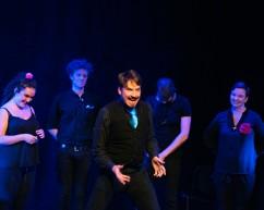 Piotr Mirowski and Improbotics cast at Improfest Sweden Göteborg 2019. Credits: Björn Nilsson.