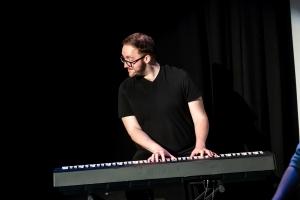 Jordan Clarke - Rosetta Code by Improbotics at The Cockpit Theatre, Camden Fringe 2021 - Photo by Lidia Crisafulli